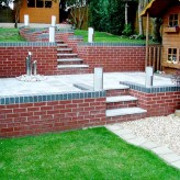 Retaining Wall with steep gradient