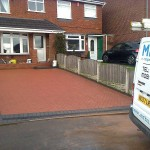 Block paving and canopy roof