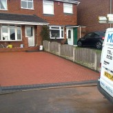 Block paving driveway and canopy roof